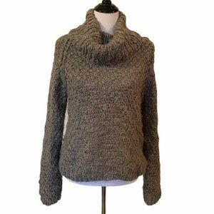 Vivienne Tam Womens Pullover Sweater Gray Long L